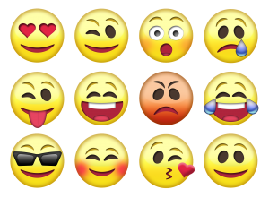 A 4 x 3 grid of a variety of emojies